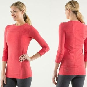 Lululemon Athletica Promenade Love Red Long Sleeve